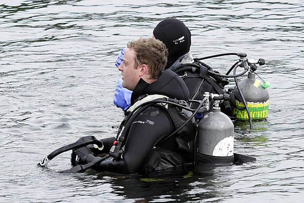 Scuba Diving at Alki Beach in Seattle, WA.